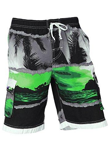 0637cca165889 INGEAR Little Boys Quick Dry Beach Board Shorts Kids Swim Trunk Swimsuit  Beach Shorts with Mesh