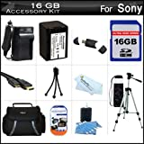 16GB Accessory Kit For Sony HDR-XR260V, HDR-TD20V, HDR-CX190, HDR-CX210 High Definition Handycam Camcorder Includes 16GB High Speed SD Memory Card + Replacement (2300Mah) NP-FV70 Battery + Ac / DC Charger + Deluxe Case + Tripod + Mini HDMI Cable + More