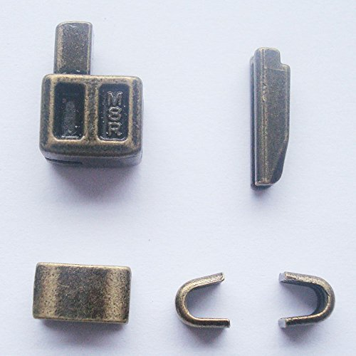 2 sets bronze #8 metal zipper head box zipper Pull Replacements zipper sliders retainer insertion pin easy for zipper repair kit(#8)
