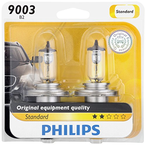 Philips 9003 Standard Halogen Replacement Headlight Bulb, 2 Pack