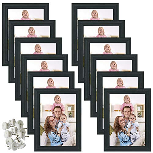 Giftgarden 4x6 Picture Frame Black Photo Frames for Wall or Tabletop, Set of 12 ()