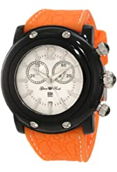 Glam Rock Women's GD1111-DBC Miami Beach Chronograph White Dial Orange Silicone Watch