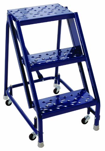 Louisville Ladder GSW1603A-W03 Steel Rolling Warehouse Ladder, 3-Step, 450 Pound Duty (Louisville Rolling Ladders)