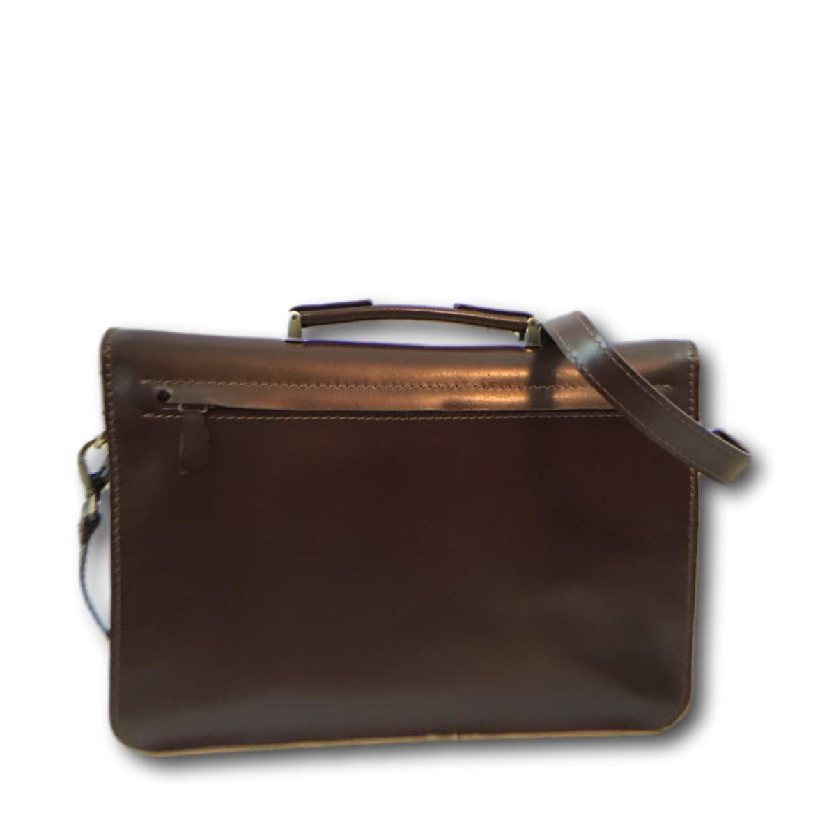 Zawadee Makeba Walnut Brown Leather Messenger Bag