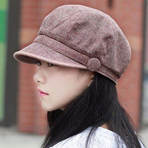 gorra moda cap marrón A y Nuevos hembra del Xiaogege Hat productosPrimavera Tapa lindo boina punta otoño sombrero algodón de de de Brown z0wqnS