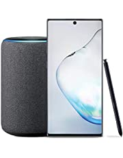 $1199 Get Samsung Galaxy Note 10+ Plus Factory Unlocked Phone with 512GB (U.S. Warranty), Aura Black with Echo Plus (2nd Gen) - Premium Sound with Built-in Smart Home hub - Charcoal