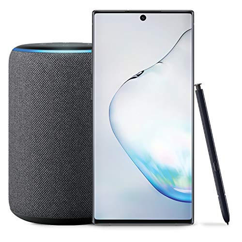 Samsung Galaxy Note 10+ Plus Factory Unlocked Phone with 512GB (U S   Warranty), Aura Black with Echo Plus (2nd Gen) - Premium Sound with  Built-in