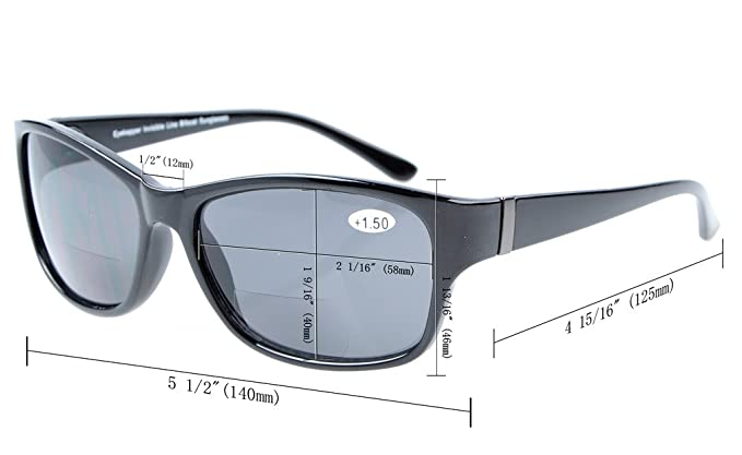 f15c6bd491e7 Eyekepper SunReaders Polarized Bifocal Sunglasses Black +2.5  Amazon.co.uk   Health   Personal Care