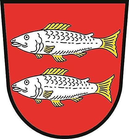 U24 Aufkleber Forchheim Wappen Autoaufkleber Sticker Konturschnitt Auto