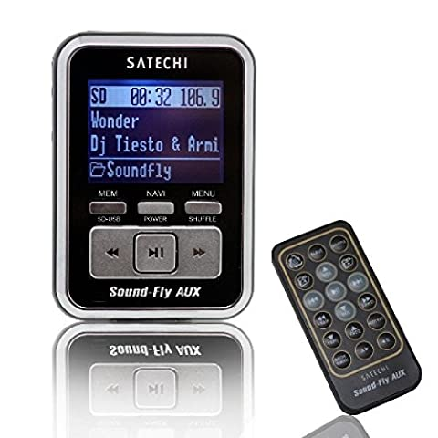Soundfly AUX MP3 Player Car Fm Transmitter for SD Card, USB Stick, Mp3 Players (iPod, Zune, Sansa) with Remote (Usb Memory Stick Mp3 Player)