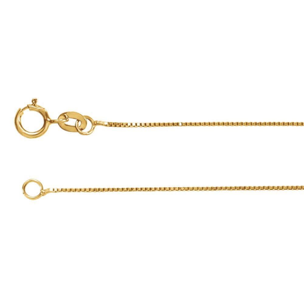 14k White Gold .55mm Solid Box Chain Necklace