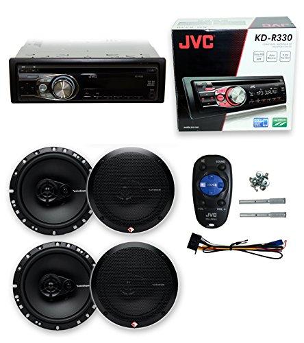 3 180w Way Car Speakers - JVC KD-R330 CD PLAYER + 4) R165X3 6.5
