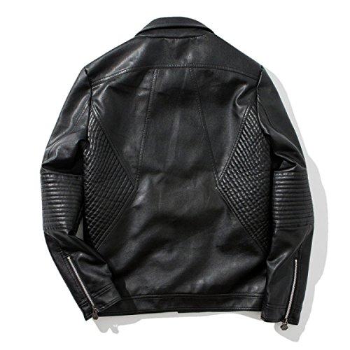 Hiver culture Vestes Vêtements Unis Cuir Automne Moto Lapel Hommes D'auto Diagonale États Zipper L'Europe Et Les Hommes Et En Black Awxw5qpg