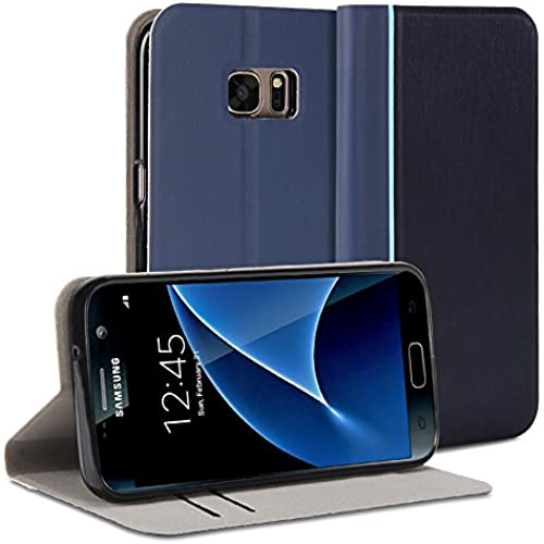 GMYLE Slim Wallet Case for Galaxy S7 - Navy Blue Sales