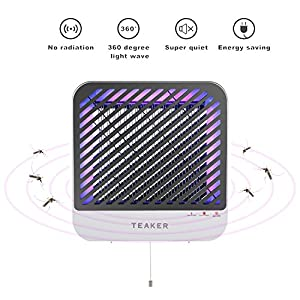 Teaker Bug Zapper With Powerful Electric Shock & UV Light Indoor, Mosquito Lamp, Fly Killer, Insect Killer, Mosquito Killer, For Home's living room, Hotel, Restaurant