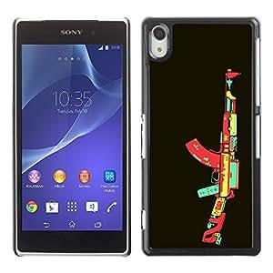 GagaDesign Phone Accessories: Hard Case Cover for Sony Xperia Z2 - Video Game AK47 Gun