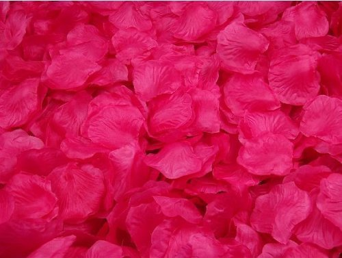 Crazycity-New-Arrival-2000pcs-Colorful-Silk-Rose-Petals-Artificial-Flower-Bridal-Shower-Favors-for-Wedding-Party-Supplies-Decoration-Dark-hot-pink