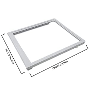 240350702 Upper Crisper Pan Cover Compatible with Frigidaire Refrigerator