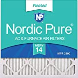 Nordic Pure 20x20x1 MERV 14 Pleated AC Furnace Air Filters, 20x20x1M14-6, 6 Pack