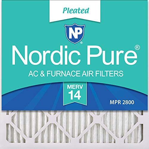 Nordic Pure 22x22x1 MERV 10 Pleated AC Furnace Air Filters 6 Pack