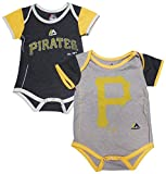 Majestic Pittsburgh Pirates Baby/Infant 2 Piece Creeper Set