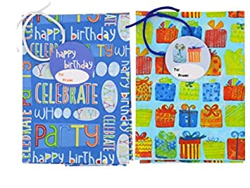 Image Unavailable Not Available For Color 2 Giant Birthday Gift Bags