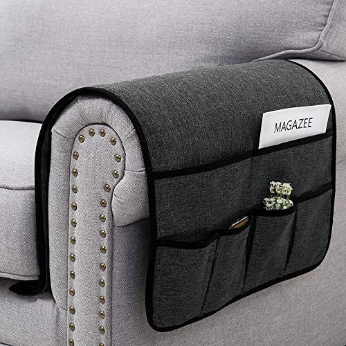 SyMax Sofa Armrest Storage Organizer with 6 Pocket Chair ...