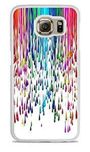 Paint Splat Rainbow colorful White Hardshell Case for Samsung Galaxy S6 by ruishername