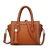 SJMMBB Handbag Vogue One Shoulder Slant,Brown,26X22X11.5Cm