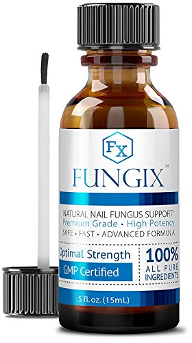 Fungix - Antifungal Nail Treatment for Toenails & Fingernails - With Tea Tree Oil, Undecylenic Acid & Other Essential Oils - Stops and Prevents Nail Fungus, 1 Vegan Friendly Bottle