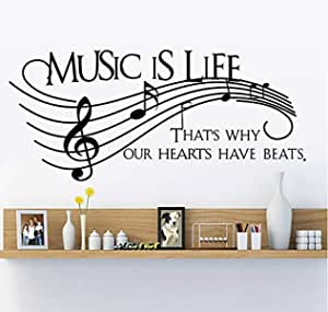 Removable Wall Sticker - Music Is Life