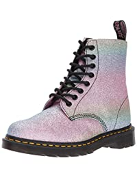 Dr. Martens Womens Glitter Silver Pascal Boots