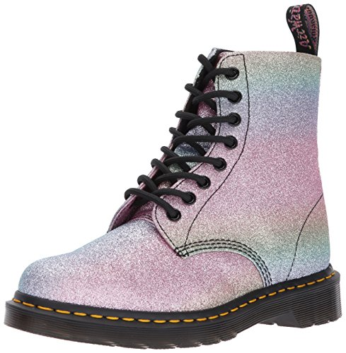Dr. Martens Women's Pascal GLTR Ankle Boot Glitter 4 Medium UK (6 US) - Gltr Stars