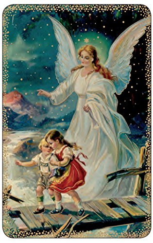 Lot of 10- Guardian Angel Prayer Card 3 3/8 in X 2 3/16 in Made in Italy