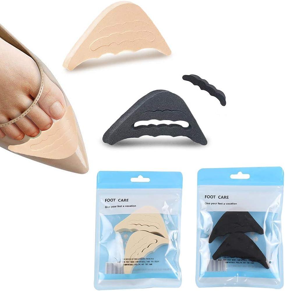 CAREOR 2 Pairs Soft Sponge Big Toe Plug Foot Brace Pads Adjustable Shoe Filler Unisex Shoe Inserts for Men /& Women Pumps Flats Sneakers