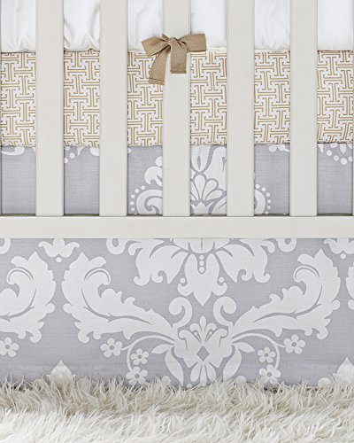 - Serena and Lily Dove Damask Crib Skirt