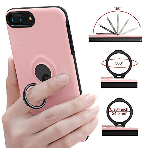 iPhone 6 Plus 6s Plus Battery instance Veepax 7200mAh portable Rechargeable electrica Bank for iPhone 6 Plus6s Plus7 Plus8 Plus55 Inch Lightning Cable suggestions Mode using Kickstand Magnetic Holder Pink mobile Accessories