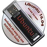 Ubuntu Linux 16.04 Bootable 8GB USB Flash Drive - 64-bit Version