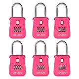 Lion Locks 1500 Key Storage Realtor Lock Box with Set-Your-Own Combination, (6 Pack , Pink)