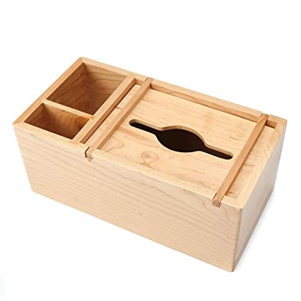 Ordinaire ZYN Pure Solid Wood Multifunction Tissue Box  Remote Control Storage Box  Paper Box European Style