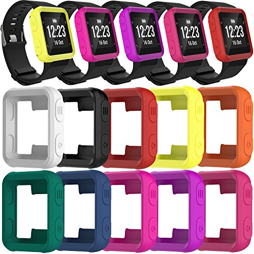 TenCloud Band Covers for Forerunner 35 Watch, Garmin Forerunner 35 Approach S20 Watch Accessories Silicone Protector Case Replacement (All Colors-10 pcs)