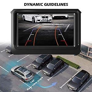 Car Backup Camera, Niloghap Universal IP69K Waterproof Rear View Camera, IR Night Vision with Dynamic Trajectory Guide Line Reverse Camera for Car Pickup Truck SUV RV Van (Tamaño: IR)