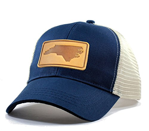 Homeland Tees Men's North Carolina Leather Patch Trucker Hat - ()