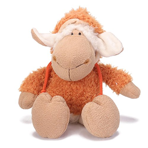- LAS 14 Inch Dolly Sheep Stuffed Animal Plush Toys Doll for Kids Baby Christmas Birthday Gifts - Orange