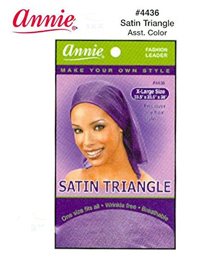 Annie Satin Triangle Silky Scarf Assorted Colors XL #4436 ()