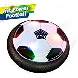 Toys for 4-8 Year Old Boys, Joy-Jam Hover Soccer Ball Air Football Soccer Disc Kids Toys Foam Bumpers for Indoors & Outdoors JJ-UK-XFZQ Black
