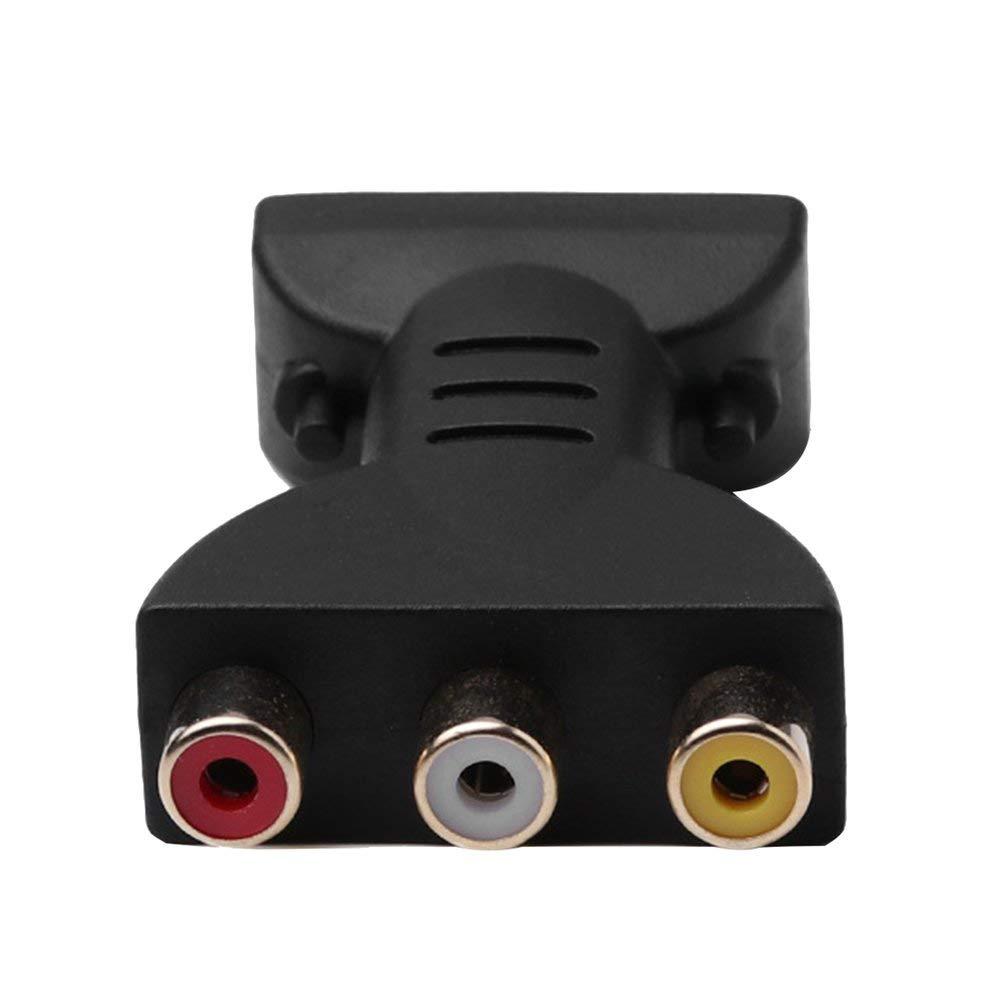 AV Digitales Signal HDMI zu 3 RCA Audio Adapter Komponenten Konverter Video F/ür PC Projektor Tablet Computer Schwarz