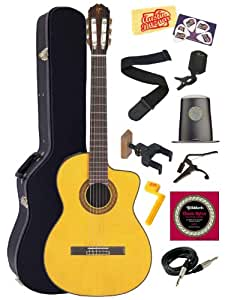 takamine tc132sc cutaway acoustic electric classical guitar with case bundle with strings strap. Black Bedroom Furniture Sets. Home Design Ideas