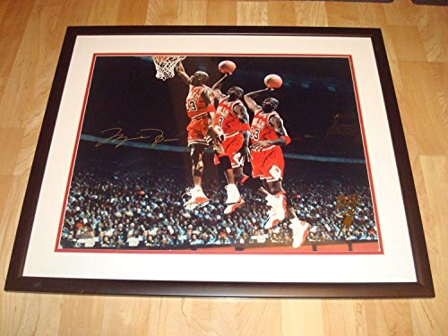 Michael Jordan Autographed Signed Memorabilia Chicago Bulls 16x20 Photo Framed Uda Upper Deck Le 223 1A - Certified Authentic