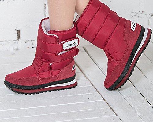 Leggenda Ec Ladies Stivaletto Da Neve Anti Scivolo Cold Weather Boot Mid Vitello Outdoor Boot Rosso